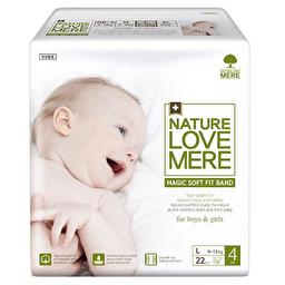 Подгузники детские Nature Love Mere, серия MAGIC SOFT FIT, размер L, 22 шт [9-12 kg]
